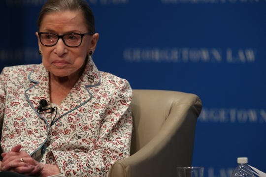 Supreme Court Justice Ruth Bader Ginsburg speaks at Georgetown University on July 2, 2019.