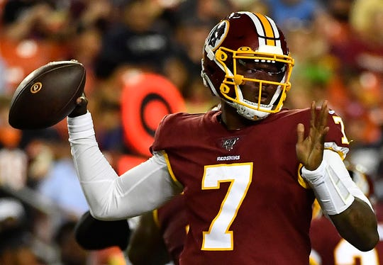 Dwayne Haskins is vying to be the Redskins' Week 1 starter.