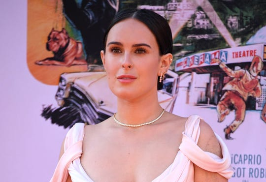 "Rumer Willis arrives for the premiere of ""Once Upon a Time... in Hollywood"" at the TCL Chinese Theatre on July 22, 2019."