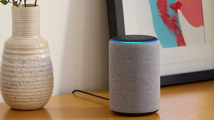 Amazon Echo Plus boasts a louder speaker, a temperature sensor, and a built in smart home hub.