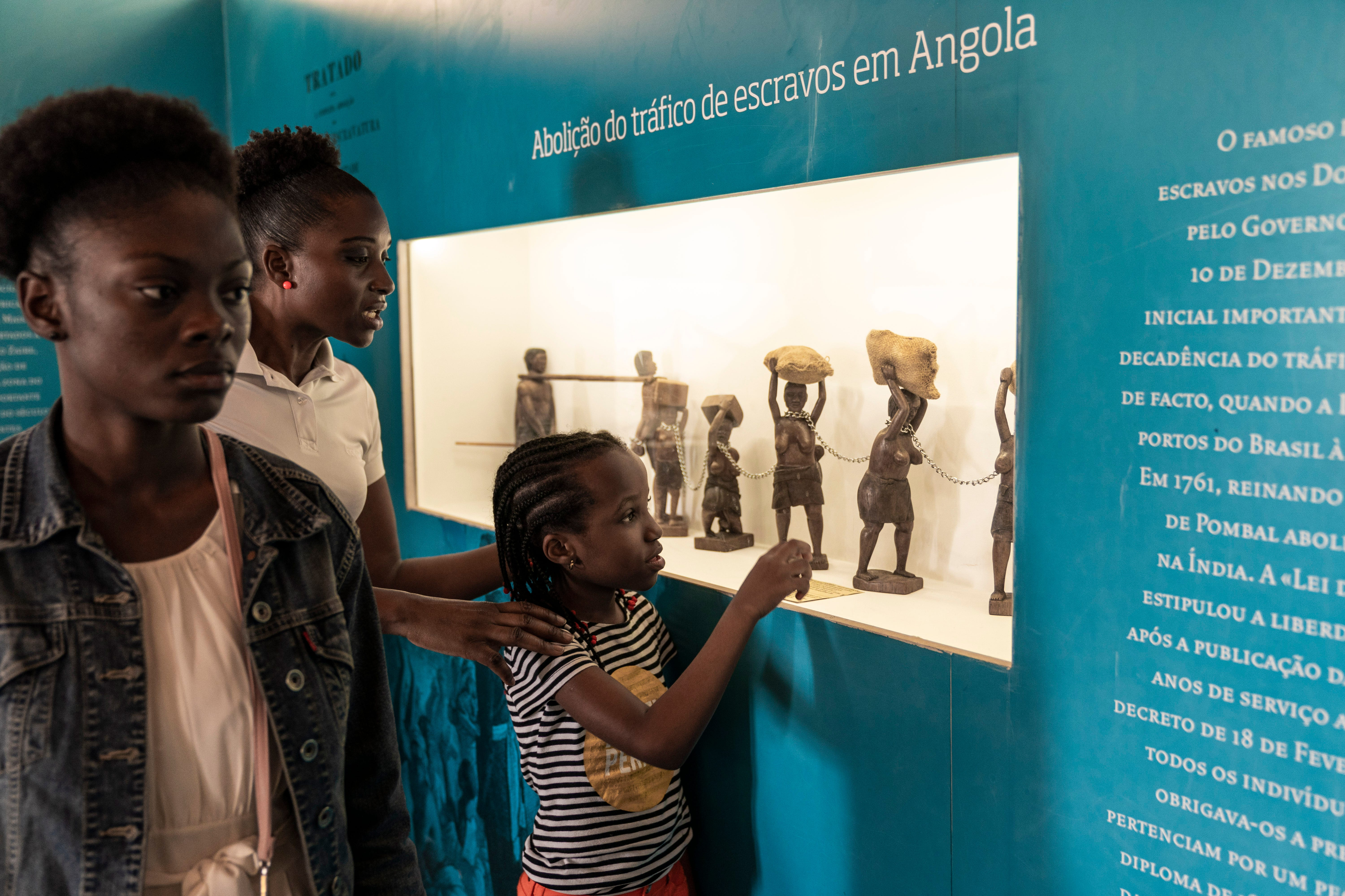 The slave trading hall is now the National Museum of Slavery in Morro Da Crus, Angola.