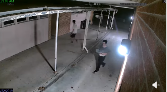 Ingleside police is seeking help from the public to identify two young men suspected to have burglarized Cook Elementary School on June 22, 2019.