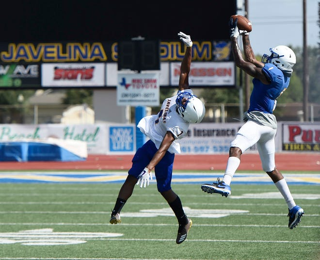 Texas A&M Kingsville hosts a football scrimmage, Saturday, Aug. 17, 2019.