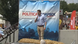 Democrat Seth Moulton, a congressman from Massachusetts, spoke Aug. 17, 2019, at the Des Moines Register Political Soapbox at the Iowa State Fair.