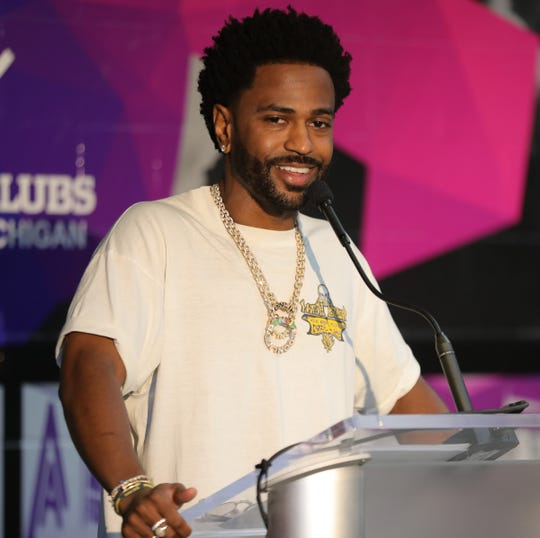 Big Sean talks about the importance of safe places for youth to gather during DON weekend held at Dick and Sandy Dauch Boys and Girls Club in Detroit on August 17, 2019.