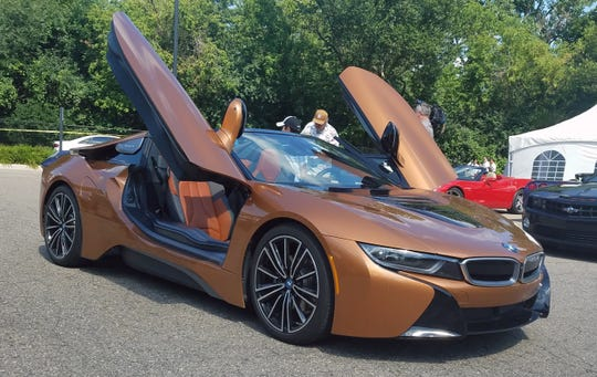 This BMW i8 and other muscle cars were at this year's annual Dman Foundation charity rides as part of the Woodward Dream Cruise experience Saturday.