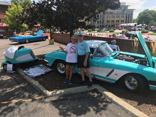 Roger and Connie Lester, both 77, of Keystone Heights, Florida, brought their 1962 Corvette Roadster to the Cruise Saturday.