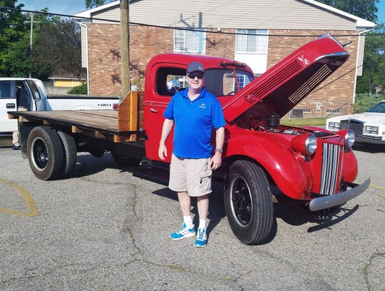 John Kalusniak's 1940 Ford pickup is bone stock — except for an auto tranny he installed.