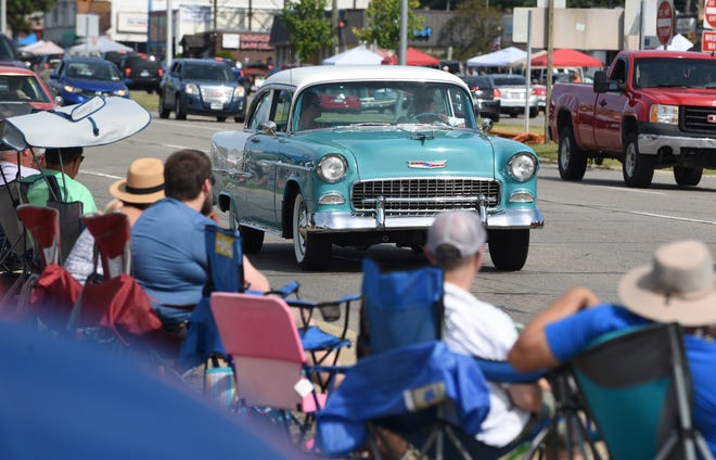 A Chevrolet Bel Air rolls past spectators on Woodward, where organizers expect the Dream Cruise to be back in all of its hod-rod, old-school glory this August.