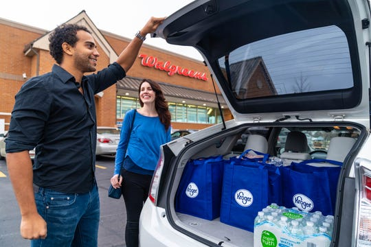 Kroger and Walgreens will soon carry each other's products in some Knoxville-area stores, and users of Kroger's online shopping can pick up their orders at participating Walgreens.