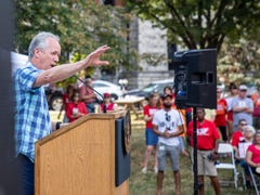 'All we're asking for is the bare minimum': Mayor Fischer, activists rally for gun control