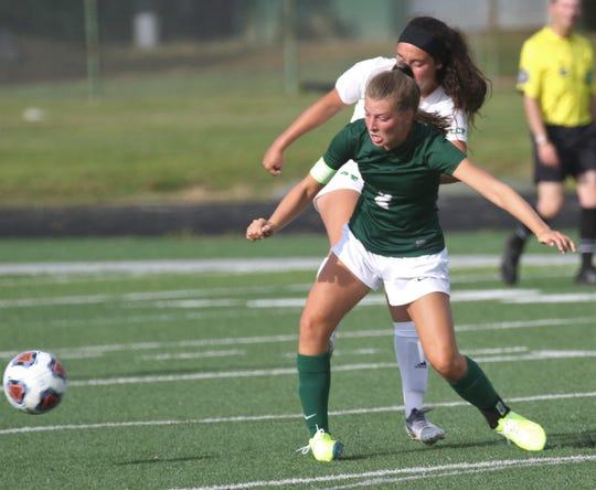 Madison's Kalie Blaising scored her 50th career goal in a 9-0 win over Mansfield Senior on Thursday.