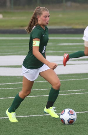 Madison's Kalie Blaising scored her 50th-career goal when she recorded a hat trick in a 9-0 win over Mansfield Senior last week.