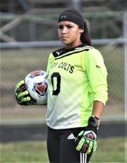 Clear Fork's Torri Curry drew praise for her play in goal during the Lady Colts' 3-1 loss to Madison on Friday night.