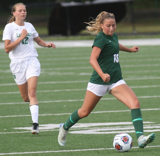 Madison's Kaya Lunsford scored a goal in a 5-0 win over Summit Country Day on Monday.