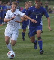 Lexington's Gage Potter scored two goals to kick off the season half leading the Minutemen to a 5-0 win over Ontario on Friday night.