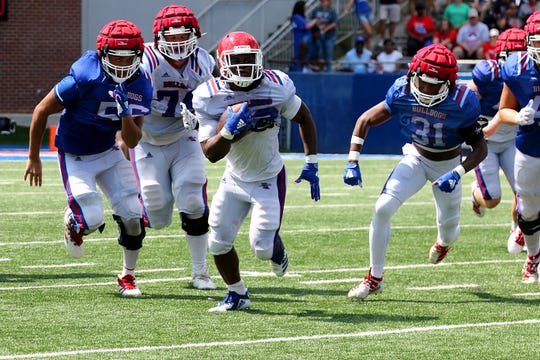 Louisiana Tech conducted its second and final fall camp scrimmage Saturday, Aug. 17, 2019 at Joe Aillet Stadium.