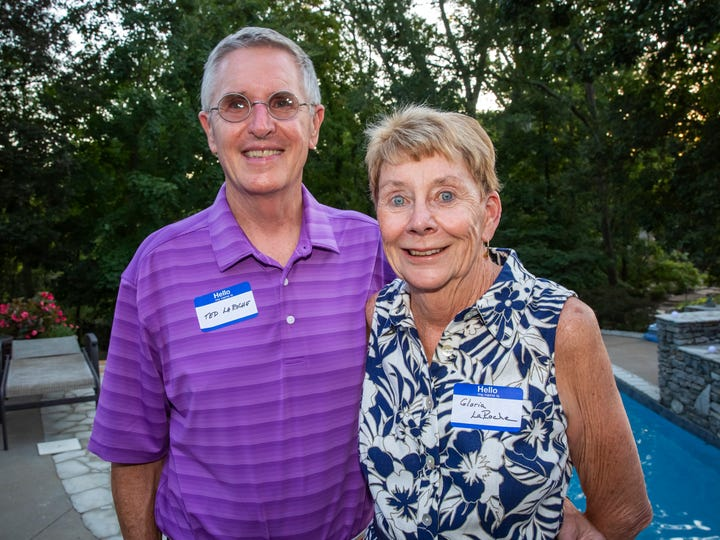 Ted and Gloria LaRoche, hosts of the Charity Circle Summer Supper event held Friday, Aug. 16, 2019.