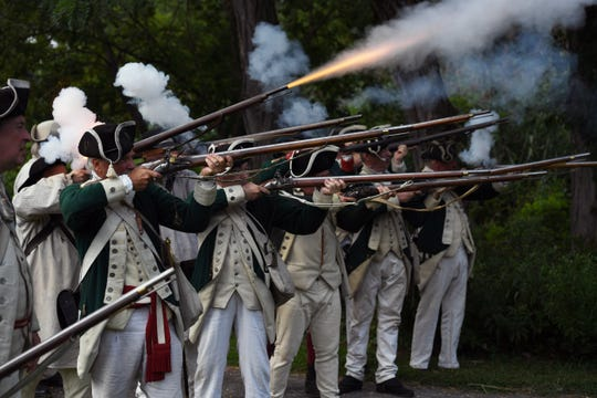 The Bergen County Historical Society and the Brigade of the American Revolution commemorate the 240th Anniversary of the Raid on Paulus Hook at New Bridge Landing on Saturday August 17, 2019.