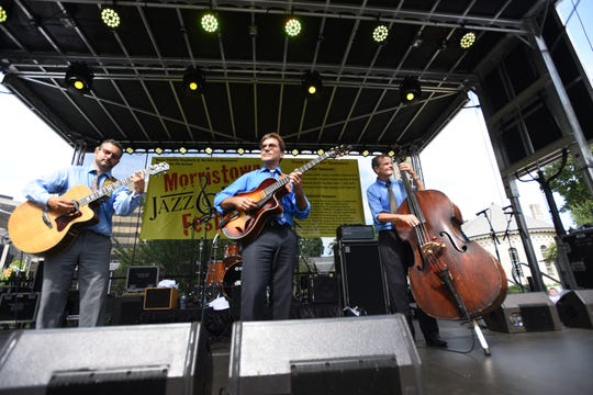 Frank Vignola trio performs at the Morristown Jazz and Blues Festival
