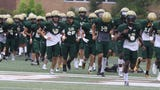 Pope John played St. Joseph in Montvale for a high school football pre season scrimmage. St. Joseph took an early lead an looked good in their win.