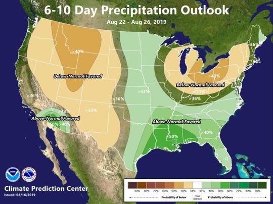 Monsoonal moisture could reach Southern California next weekend, the National Weather Service said on Saturday.