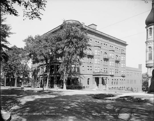 A look at the Harrington Hotel in the early 20th century. The photograph, attached to developers' application to the Port Huron Historic District Commission, is dated 1901 by the Detroit Photographic Co.