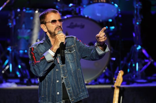 Ringo Starr and his All Starr Band perform at Bethel Center for the Arts in Bethel on Friday, August 16, 2019, during the Woodstock 50th anniversary celebration.