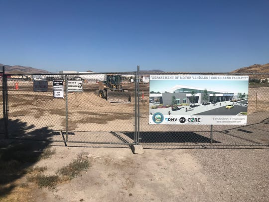 Site grading at the Department of Motor Vehicles South Reno Facility, Aug. 15, 2019.