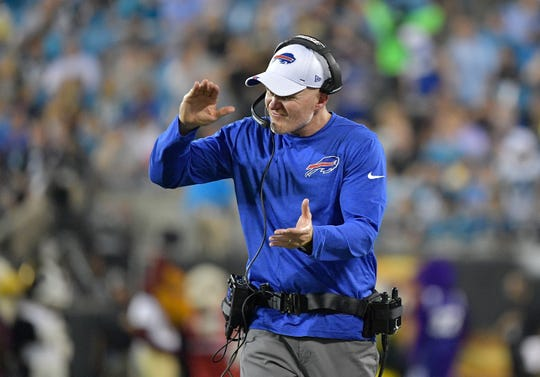 Bills coach Sean McDermott was pleased with his team's play at Carolina. How much his starters play Friday at Detroit he's leaving open ended.