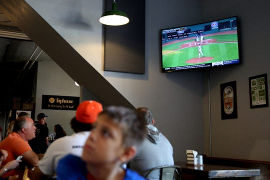 A watch party for the Sprague's All-Stars first game in the Little League World Series at B² Taphouse & Brewery in Salem on Aug. 16, 2019.