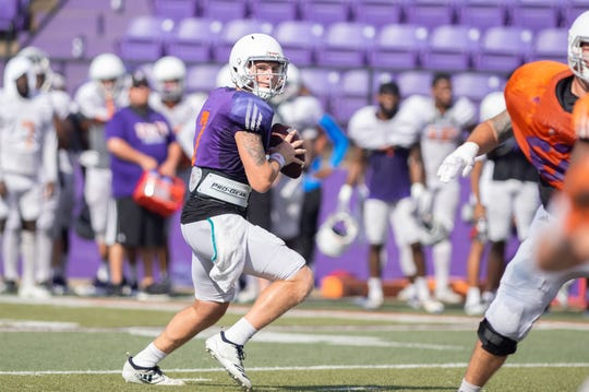 NSU sophomore quarterback Bryce Rivers threw three touchdowns in Saturday's scrimmage for the Demons.