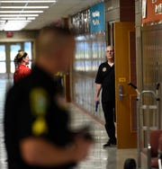 Citizens portrayed different roles of shooter and victims during the active threat training Wednesday, Aug. 14, 2019, at Sauk Rapids-Rice Middle School.