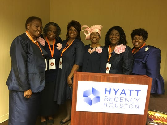 National P. B. Women of Church Auxiliary Officers:  (L-R) L. Pease (Havana), B. Nickerson (Miami)  G. Daily (Texas), J. Jackson, (Tallahassee),  B. Simmons (Havana), E. Withers (Miami).