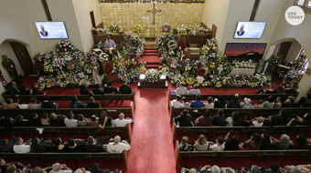 Hundreds of people joined El Paso widower Antonio Basco to say goodbye to his wife, Margie Reckard, who was one of the victims in the El Paso shooting.