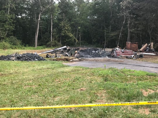 The aftermath of a fire that burned a Marlboro homeSunday.
