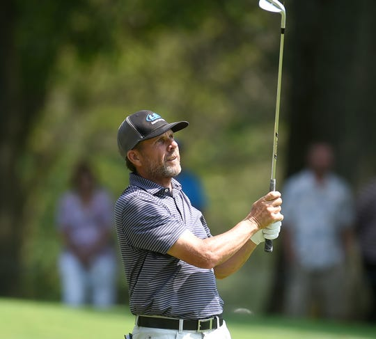 Doug Barron during the final round of Dick's Sporting Goods Open at En-Joie Golf Course in Endicott. Sunday, August 18, 2019.