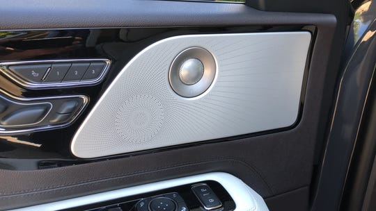 A 28-speaker Revel audio system is available in the 2020 Lincoln Aviator.