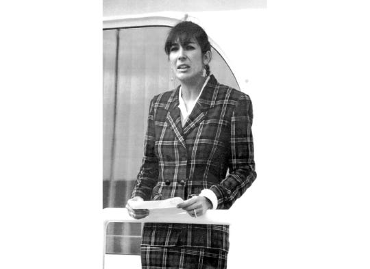 Ghislaine Maxwell is shown in 1991