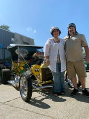 John and Cheryl Rese, 60 and 58 from Armada Township, show off Cheryl's beefed-up 1915 Model T.
