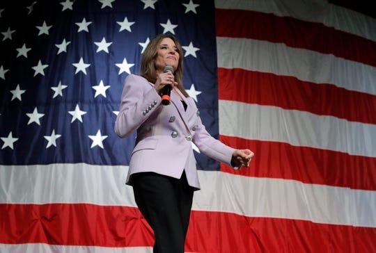 Democratic presidential candidate Marianne Williamson
