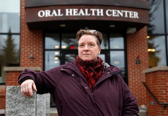 Ebyn Moss, 49, of Troy, Maine, broke a tooth below the gum line in 2017. Moss gets treated at a dental school in Portland — a two-hour drive for appointments that can last 3 1/2 hours.