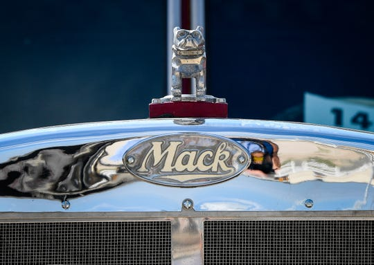 About 3,600 UAW workers went on strike at Mack Truck in six states at 11:59 p.m. Oct. 12, 2019. This image is a shot of a vintage Mack truck on display at the Chrome and Lights Truck Show on display at the Henderson County Fairgrounds in Kentucky in August 2019.