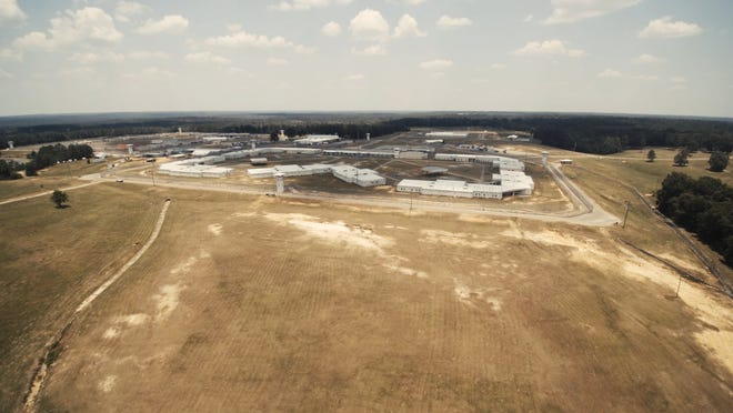 The campus of South Mississippi Correctional Institution in Leakesville, Miss., is shown in this drone photo.