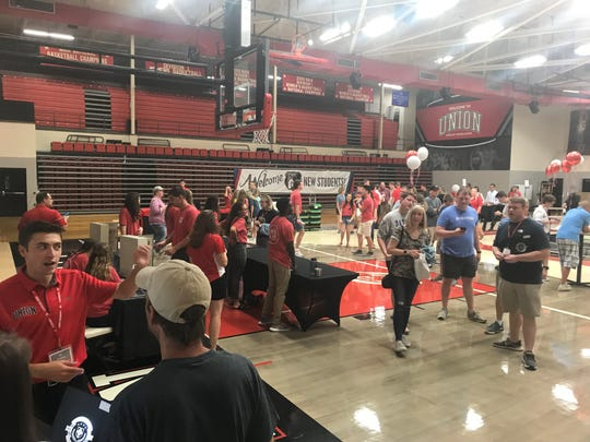 A total of 400 students and their families were expected to come through Union's gym on Friday.