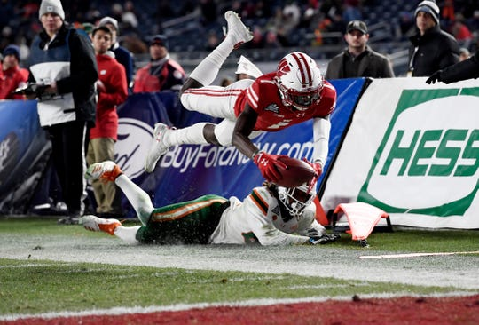 Sophomore receiver Aron Cruickshank has made several big catches during training camp but the Badgers coaching staff is concerned about his lack of consistency.