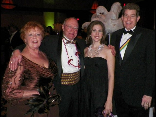 Gray and Julie Price and Beverly and Jim Byard Jr. at a recent Mardi Gras Ball.