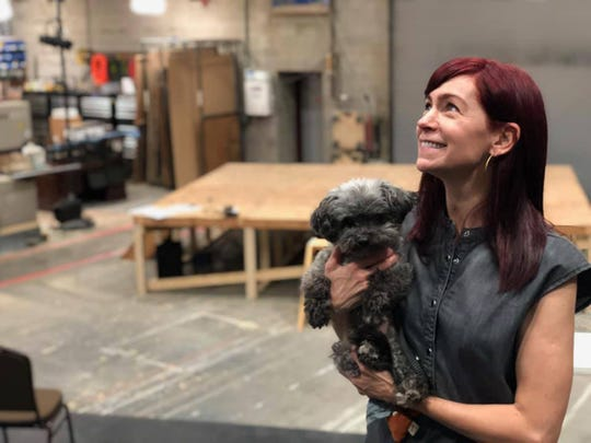"Carrie Preston and Chumley get a look inside Alabama Shakespeare Festival's scene shop, where the world premiere of ""BUZZ"" will be staged."