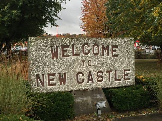 New Castle welcome sign