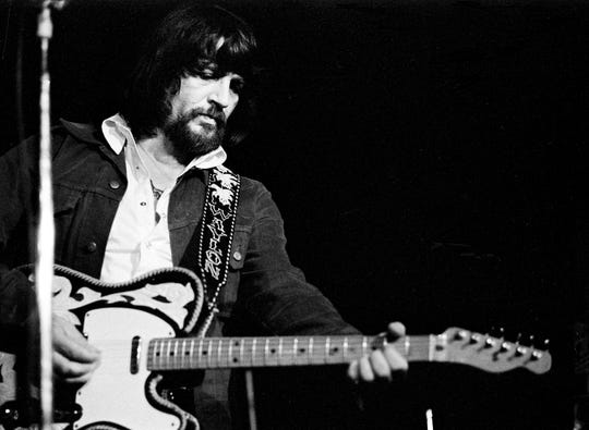 After more than a year's absence from Nashville stages, Waylon Jennings and his Waylors perform for a packed audience at one of two shows Aug. 19, 1975, at the Exit/In to benefit the club.